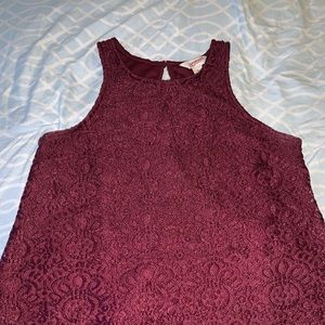 Burgundy casual tank